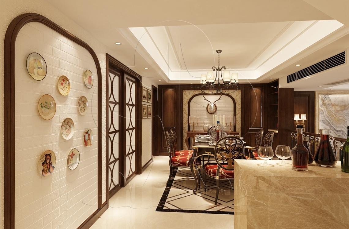 V3美式-餐厅-砖艺