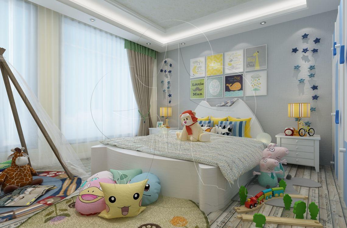 V1现代四-儿童房-肌理-布艺