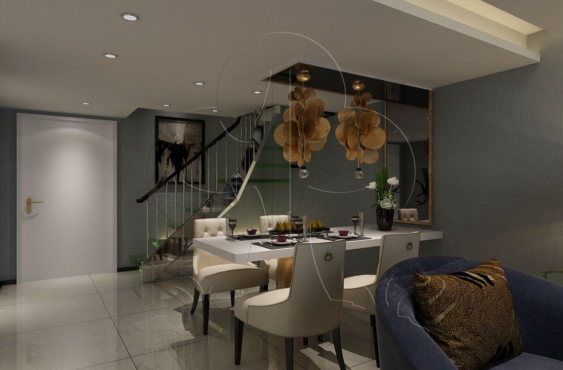 V2现代六-餐厅-肌理-布艺