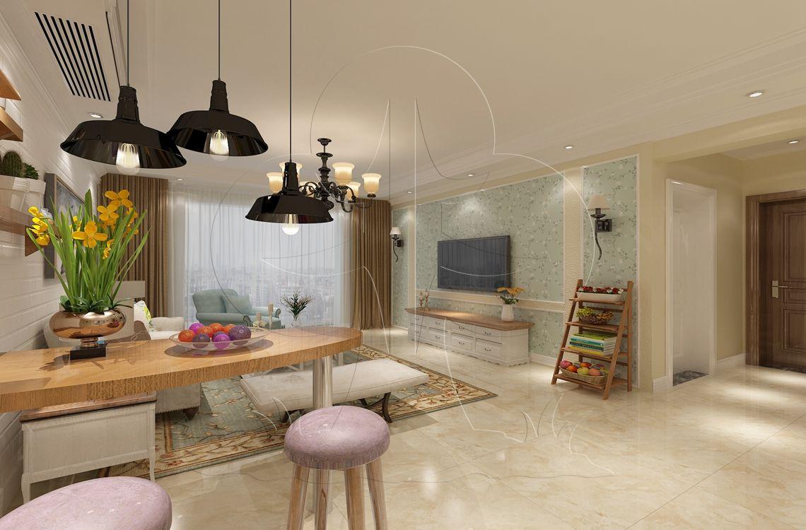 V2美式四-客厅-丝网印-生如夏花