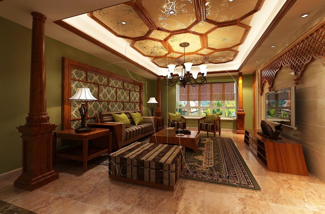 V1东南亚-客厅-丝网印