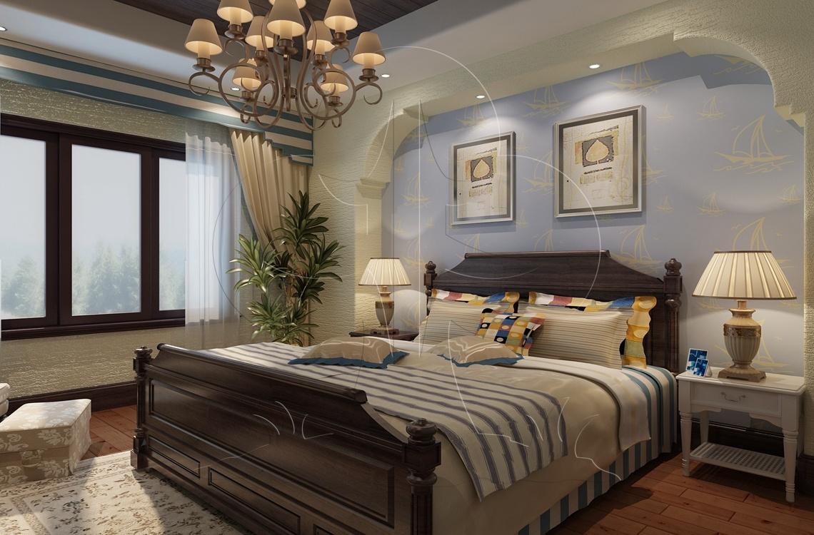 V1中式六-卧室-丝网印-流金岁月