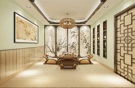 A3-中式八--茶室-手绘