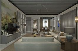 A1-中式三-客厅-手绘