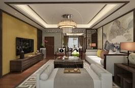 A2-中式四-客厅-肌理-旭日-手绘
