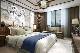 A2-中式四-卧室-手绘