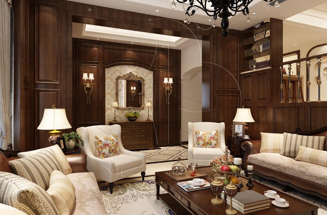 V3美式-客厅-压花-丝网印-砖艺