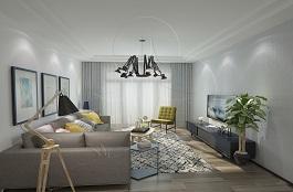 A2-现代二-客厅-肌理-压花