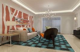 A3-现代二-客厅-刻花-肌理-压花