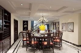 A3-中式-餐厅-肌理-洞石-压花