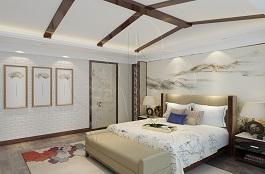 A3-中式-卧室-压花-砖艺-手绘