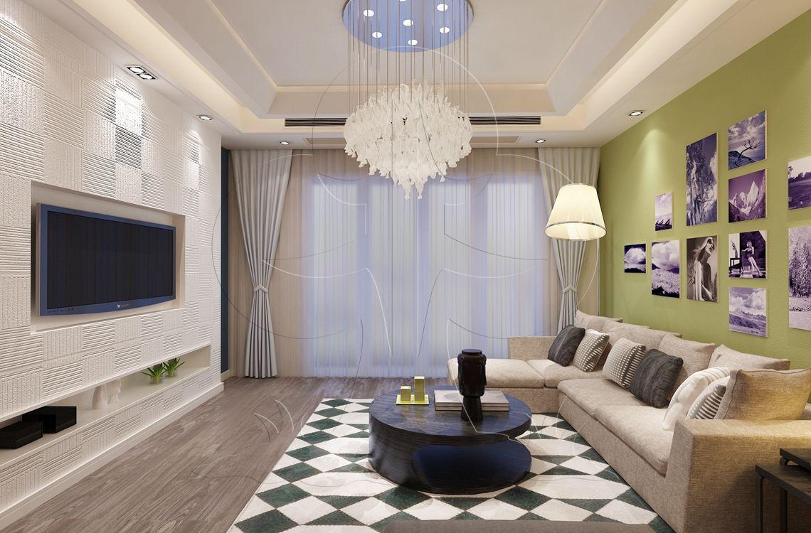 V1现代六-客厅-肌理-陶纹