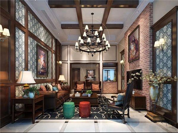 北疆硅藻泥美式客厅
