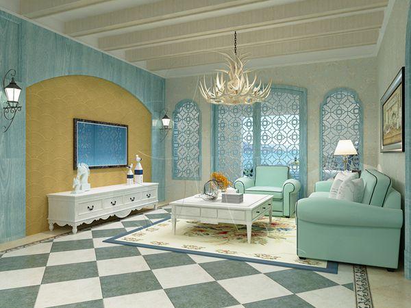 北疆硅藻泥客厅装修效果图