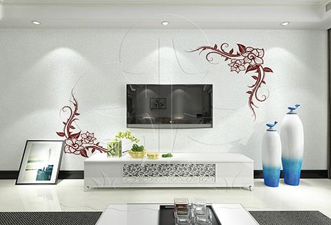【北疆硅藻泥】电视背景墙之姿态万千的精灵——刻花系列