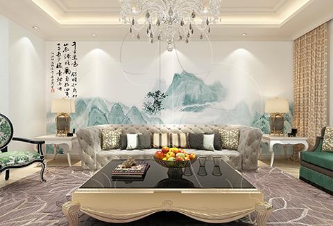 【北疆硅藻泥】电视背景墙之空灵含蓄的诗意——丹青系列